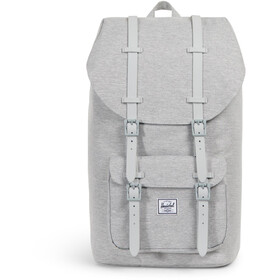 Herschel Little America Sac à dos, light grey crosshatch/grey rubber